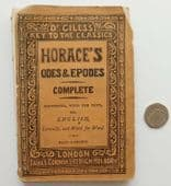 Horace's Odes and Epodes Dr Giles's Key to the Classics Victorian Latin book